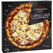 Stenugnsbakad pizza Capricciosa Fryst 370g ICA