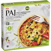 Grönsakspaj med fullkorn Fryst 220g ICA