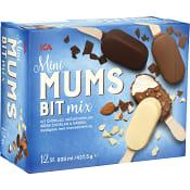 Glasspinne Mini mumsbit Mandel & choklad 12-p 420g ICA