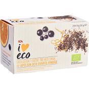 Grönt te Apelsin & svartvinbär Ekologisk 20-p ICA I love eco