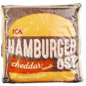 Hamburgerost Cheddarsmak 200g ICA