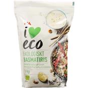 Basmatiris Ekologisk 1kg ICA I love eco