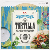 Soft tortillas Large 6-p 370g ICA