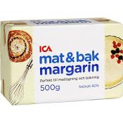 Mat & bakmargarin 80% 500g ICA