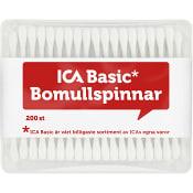 Bomullspinnar 200-p ICA Basic