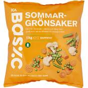 Sommargrönsaker Fryst 1kg ICA Basic