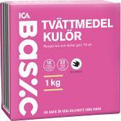 Tvättmedel Kulör 1kg Miljömärkt ICA Basic