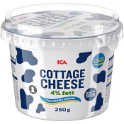 Cottage cheese Naturell 4% 250g ICA