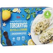 Torsk Persilje & citronsmör Fryst 2-p 300g ICA
