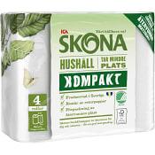 Hushållspapper Kompakt 4-p ICA Skona