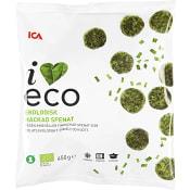 Hackad spenat Fryst Ekologisk 450g ICA I love eco