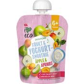 Smoothie Yoghurt äpple & aprikos Från 6m Ekologisk 85g ICA I love eco