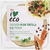 Soft tortilla Ekologisk 6 st 240g ICA I love eco