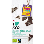 Mörk choklad med Havsalt Ekologisk 100g ICA I love eco