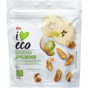 Torkade äppelskivor Ekologisk 80g ICA I love eco