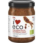 Pesto Soltorkad tomat Ekologisk 130g ICA I love eco