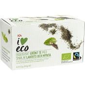 Grönt te Lakrits & mynta Ekologiskt 20-p ICA I love eco
