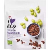 Sultanrussin Ekologisk 250 g ICA