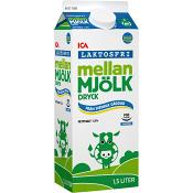 Mellanmjölkdryck Laktosfri 1,5% 1,5l ICA