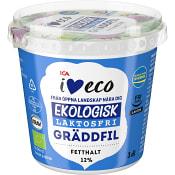 Gräddfil 12% Laktosfri 3dl KRAV ICA I love eco