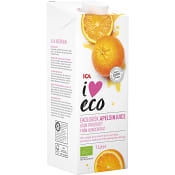 Apelsinjuice utan fruktkött Ekologisk 1l ICA I love eco