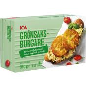 Burgare vegitarisk Fryst 6x60g 360g ICA