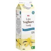 Vaniljyoghurt Lätt 0,5% 1kg ICA
