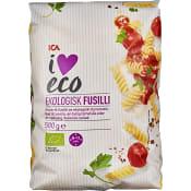Pasta Fusilli Ekologisk 500g ICA I love eco
