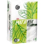 Hushållpapper Mat & Kök Storpack 12-p ICA