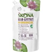 Tvättmedel Kulör & vittvätt Milt parfymerat 900ml Refill Miljömärkt ICA Skona