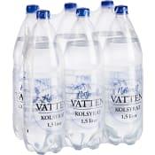 Vatten Kolsyrad Naturell 1,5l 6-p No logo
