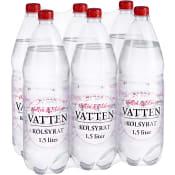Vatten Kolsyrad Hallon blåbär 6-p 150cl No Logo