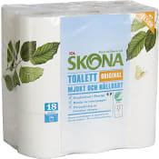 Toalettpapper 18-p Miljömärkt ICA Skona