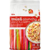 Müsli Mix crunchy jordgubb & yoghurt 500g ICA
