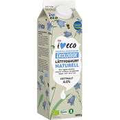 Lättyoghurt naturell 0,5% 1kg KRAV ICA I love eco
