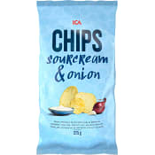 Chips Sourcream & Onion 275g ICA