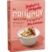 Flingor Crunchy Yoghurt & jordgubb Mindre socker 725g ICA