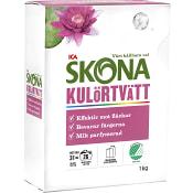 Tvättmedel Kulörtvätt Morgonsol 1kg Miljömärkt ICA Skona