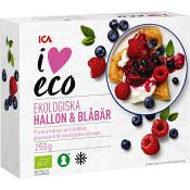 Bär Hallon & blåbär Ekologisk Fryst 250g ICA I love eco