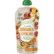 Barnmat Grönsaker & kyckling 6m Ekologisk 120g ICA I love eco
