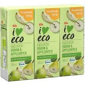 Fruktdryck Päron & äpple 20cl 3-p ICA I love eco