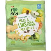 Snacks Barn Majs & linssköldpaddor 20g ICA I love eco