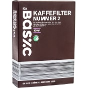 Kaffefilter nr 2 100-p ICA Basic