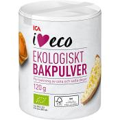 Bakpulver Ekologiskt 120g ICA I love eco