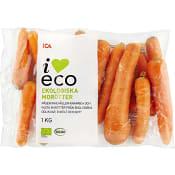 Morötter Ekologiska 1kg KRAV Klass 1 ICA I love eco