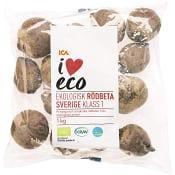 Rödbetor Ekologiska 1kg KRAV Klass 1 ICA I love eco