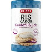 Riskakor med smak av Gräddfil & lök 125g Friggs