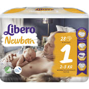 Blöjor Newborn Storlek 1 2-5kg 28-p Miljömärkt Libero