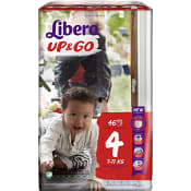 Byxblöjor Up&Go Storlek 4 7-11kg 46-p Miljömärkt Libero