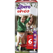 Byxblöjor Up&go Storlek 6 13-20kg 38-p Miljömärkt Libero